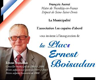 Inauguration de la place Ernest BOISADAN