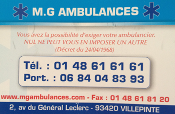 M.G AMBULANCES