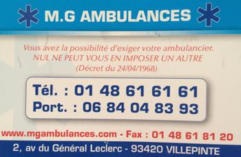 M.G AMBULANCES